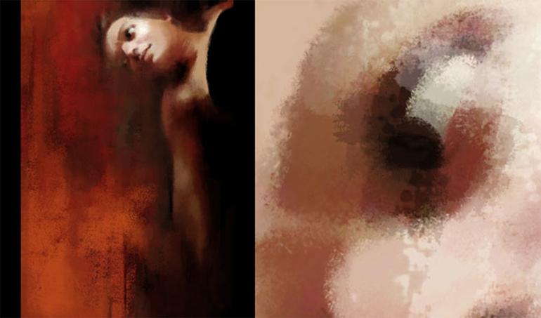 """Détail d'une peinture numérique """"Pigment n°66"""""""