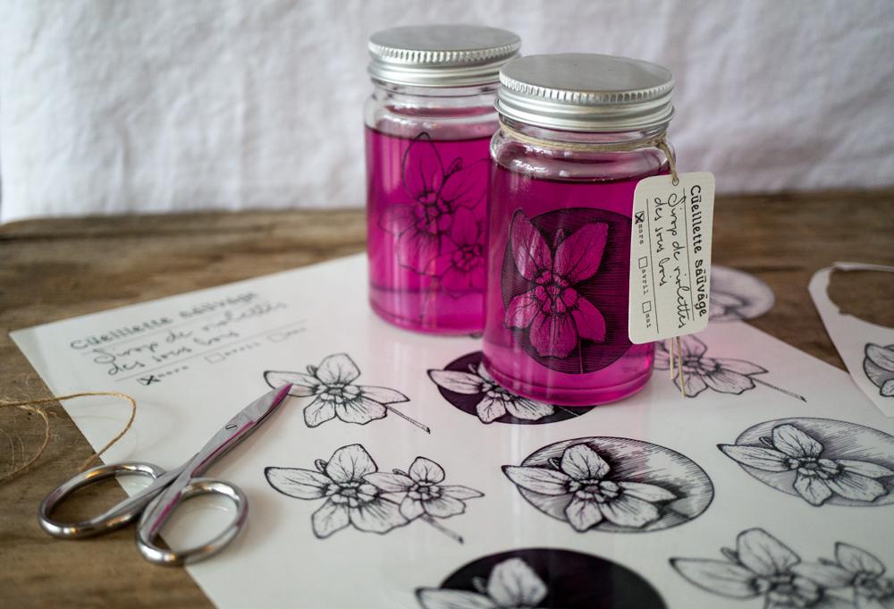 bluette.fr //  stickers violettes des sous-bois