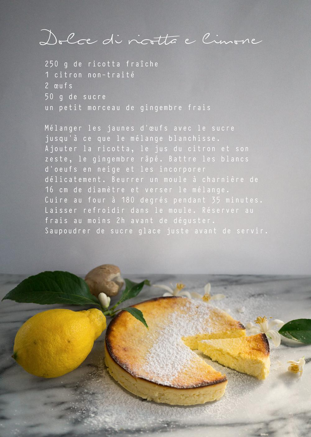 bluette.fr // recette-dolce-di-ricotta-e-limone