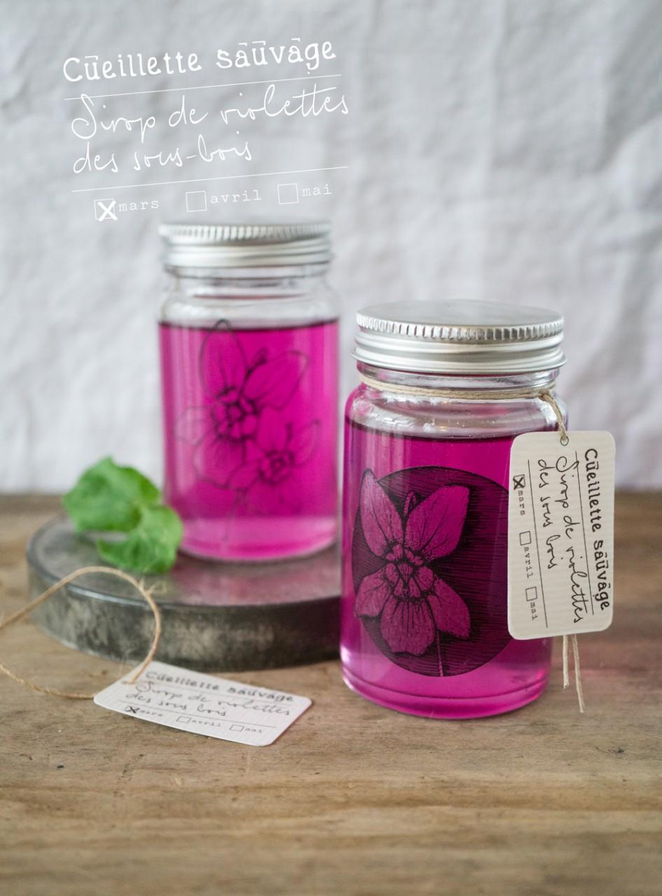 bluette.fr //  sirop violettes des sous bois