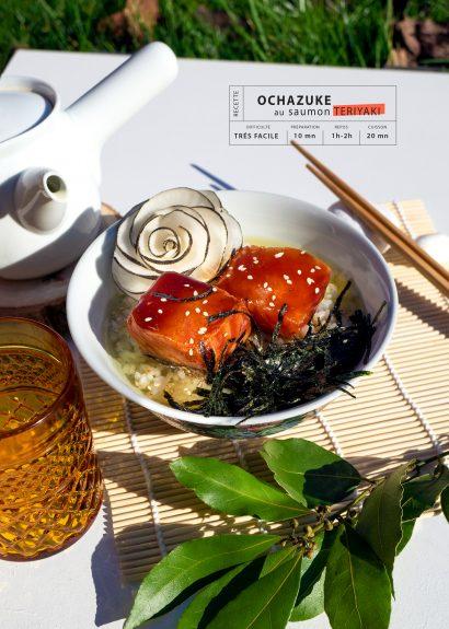 Ochazuke au saumon teriyaki
